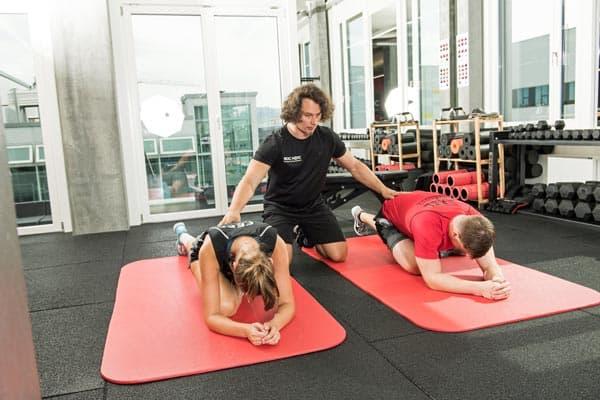 Piriformis Stretch Übung gegen Rückenschmerzen