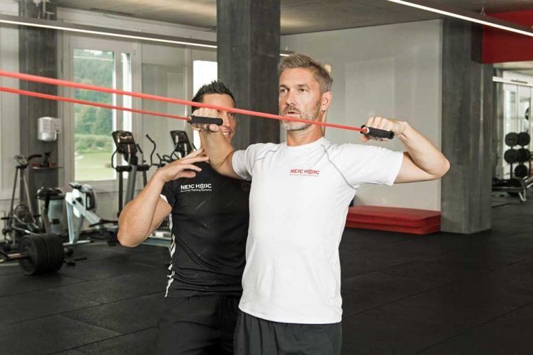 Facepulls Training bei Schulterschmerzen