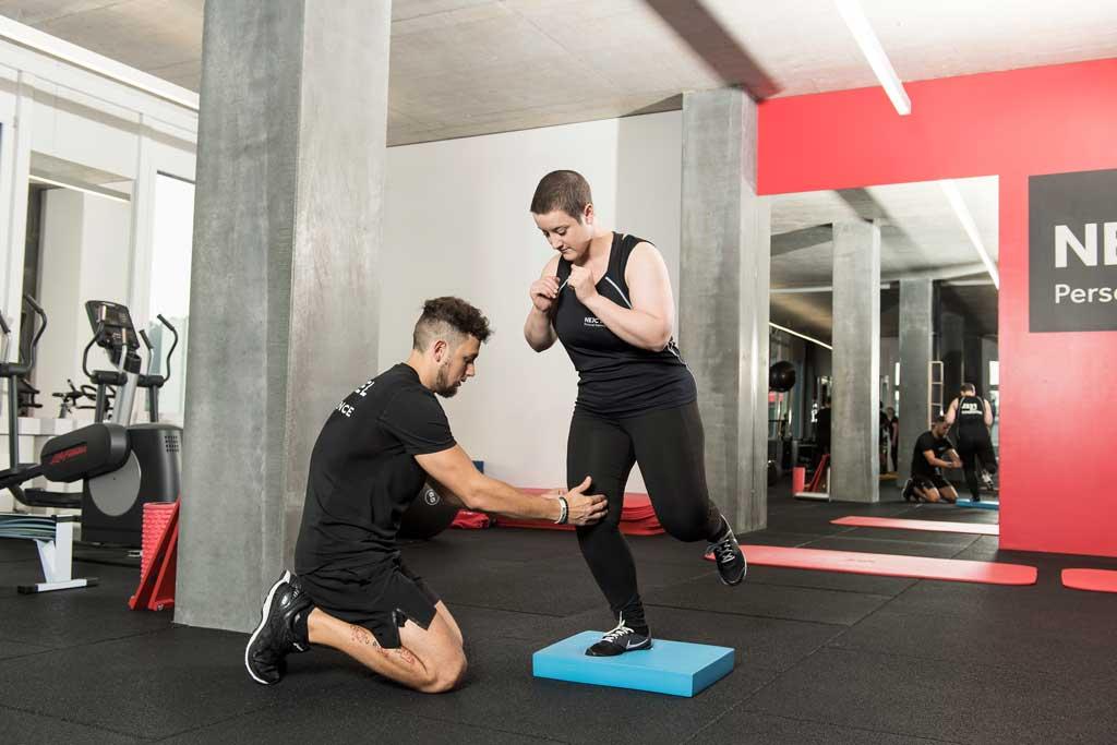 Stabilitätstaining zur Übung für das Knie